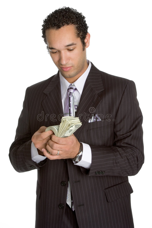 Het Tellende Geld van de persoon stock afbeelding