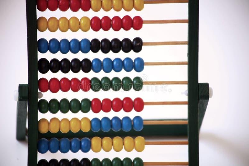 Het Telraam Wiskunde en het tellen stock foto's