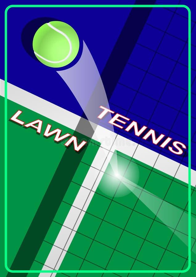 Het tennis van het affichegazon royalty-vrije illustratie
