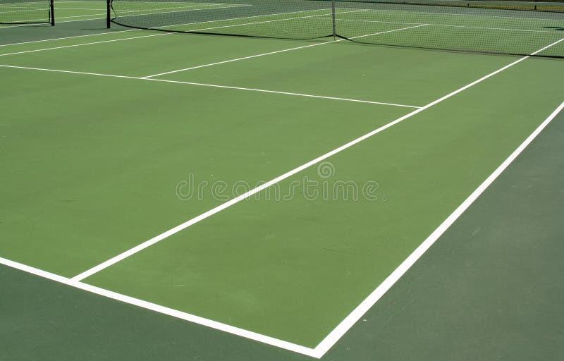 Het tennis van de middag stock foto