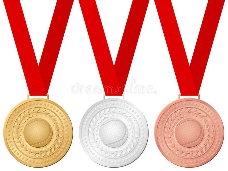 Het tennis van medailles royalty-vrije illustratie