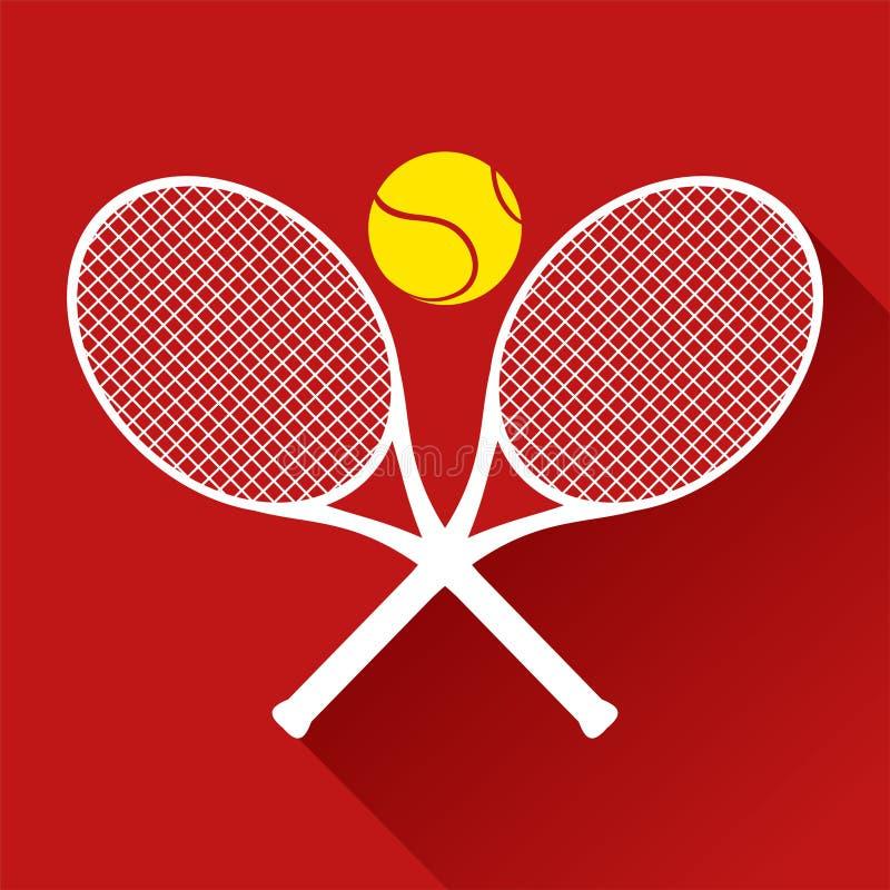 Het tennispictogram van Nice vector illustratie