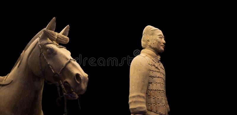 Het Terracottaleger van de Qindynastie, Xian (Sian), China stock foto