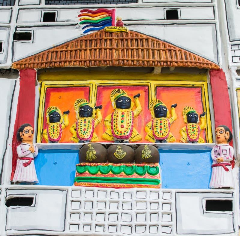 Het terracottaplaque van Rajasthan Molela royalty-vrije stock afbeeldingen