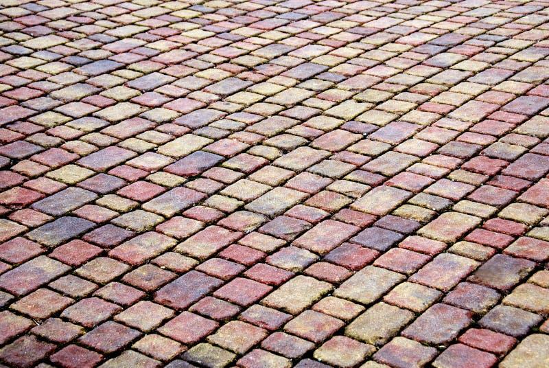 Het terras van de baksteen royalty-vrije stock foto