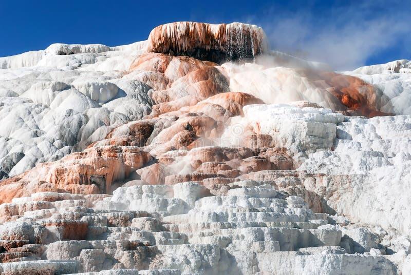 Het Terras van de paletlente is één van de prachtig terrassen van de Mammoet Hete Lentes stock foto's