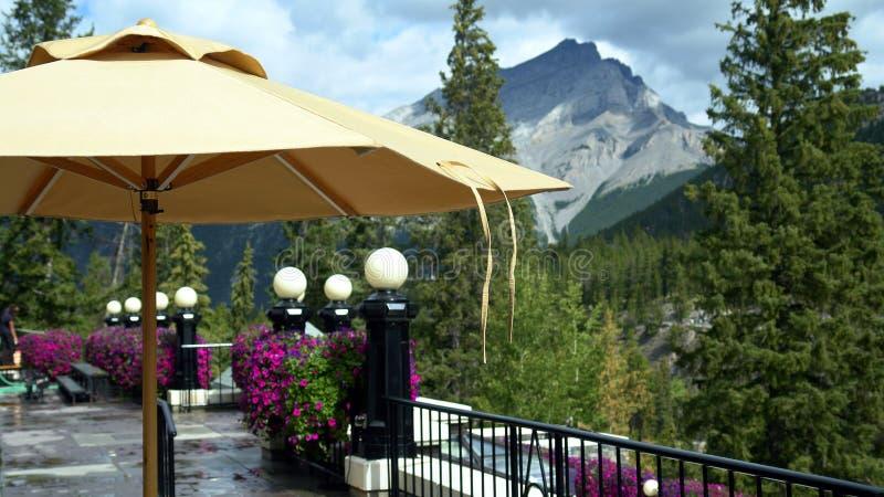Het Terras van het hotel royalty-vrije stock afbeelding