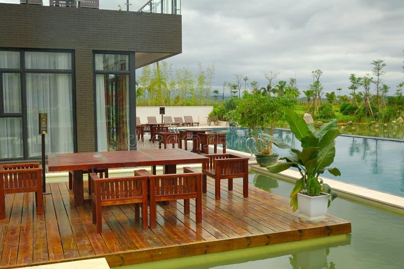 Het terras van het huis 1# stock afbeelding