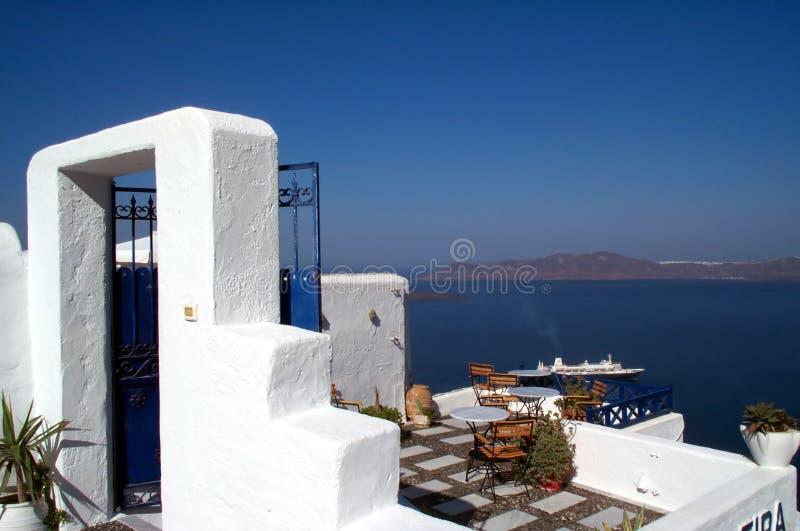 Het terras van het restaurant royalty-vrije stock foto's