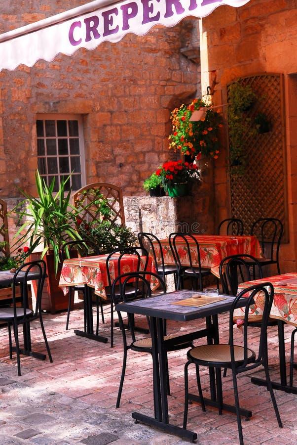 Het terras van het restaurant royalty-vrije stock afbeelding
