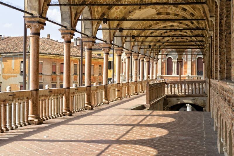 Het terras van Padua van een middeleeuwse stad - ragione van palazzodella royalty-vrije stock foto's