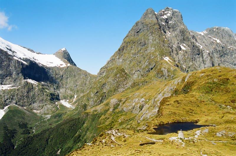 Het terrein van de berg stock afbeeldingen