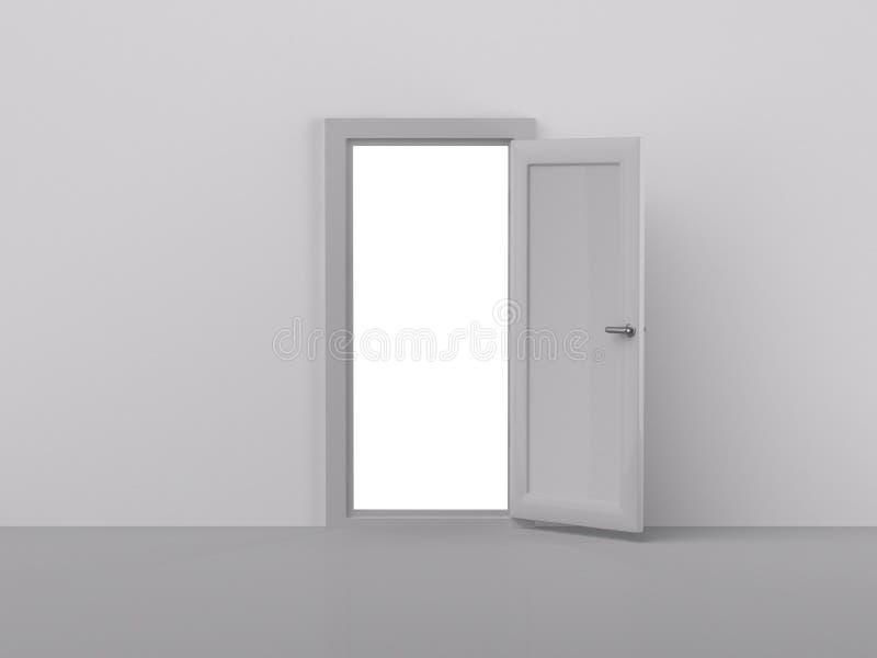 het teruggeven van deur stock illustratie