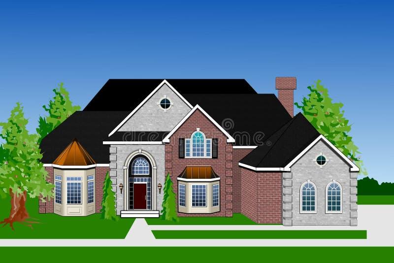 Het teruggeven van het huis vector illustratie