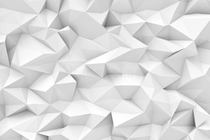 Het teruggeven van witte veelhoekige driehoekige geometrische abstracte achtergrond royalty-vrije illustratie