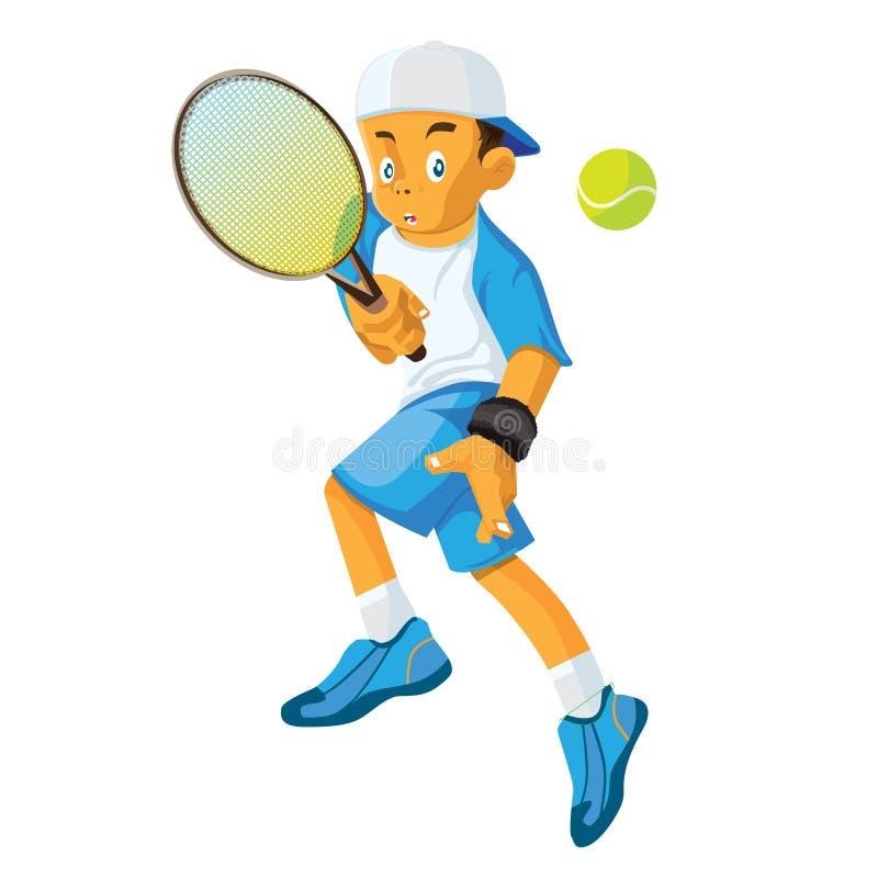 Het terugkeren van een tennisbal vector illustratie