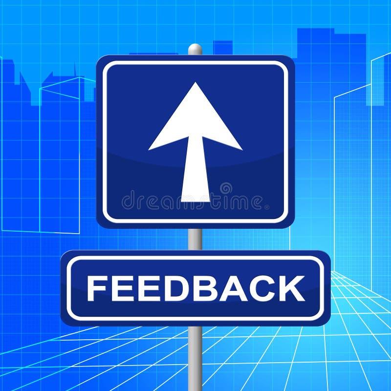 Het terugkoppelingsteken toont Richtingscommentaar en Evaluatie stock illustratie