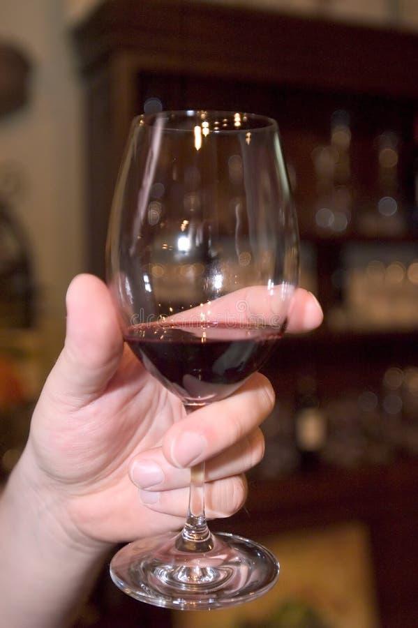 Het testen van de wijn stock foto's
