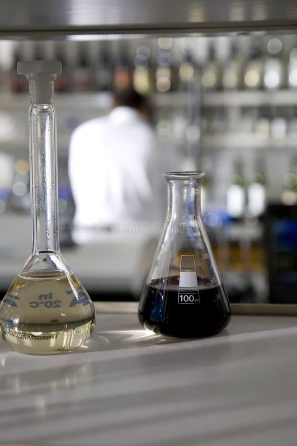 Het testen van de wijn laboratorium royalty-vrije stock foto