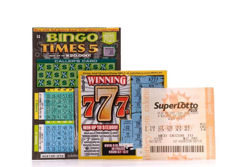 Het testen van Geluk met de Loterij royalty-vrije stock afbeelding
