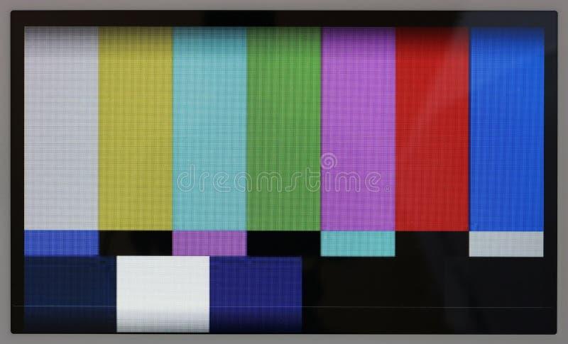 Het testpatroon van de lijnen van de kleurentelevisie op nr noemt modern Ta stock afbeeldingen