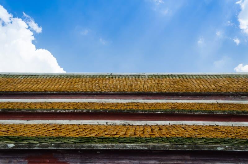 Het Thaise dak stock foto's