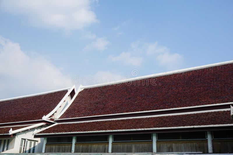 Het Thaise dak van de Tempel royalty-vrije stock foto's