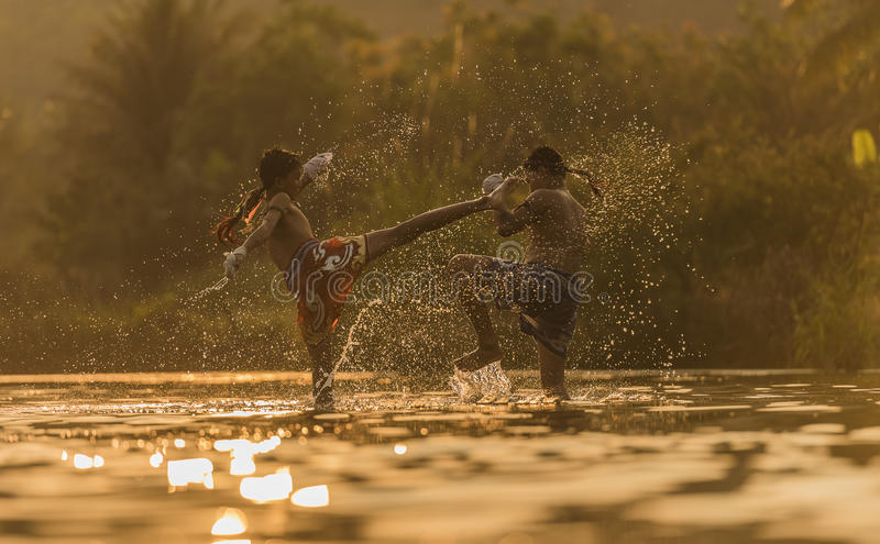 Het Thaise In dozen doen stock foto's