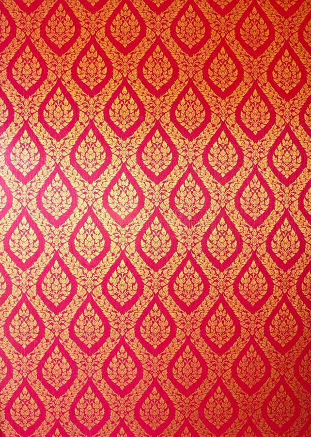 Het Thaise patroon van de kunstmuur royalty-vrije stock afbeeldingen