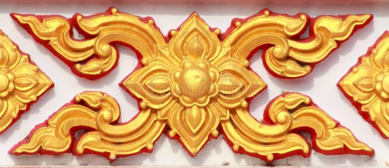 Het Thaise patroon van de stijlkunst stock foto