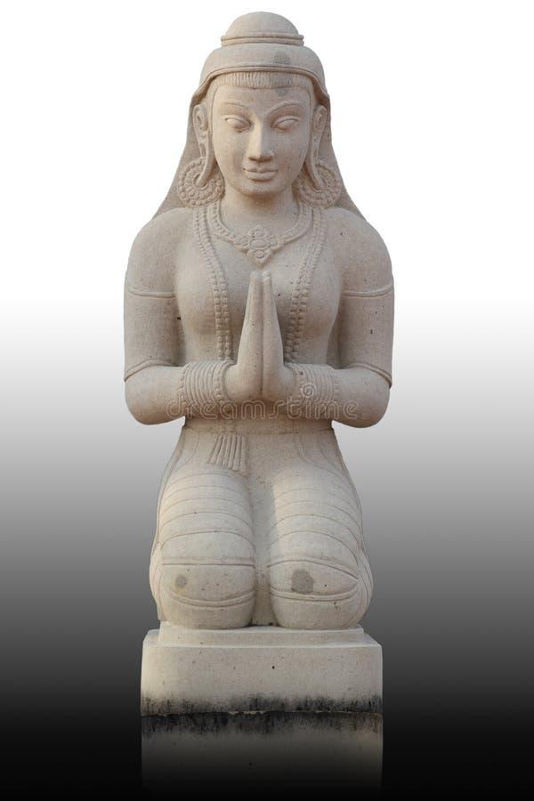Het Thaise standbeeld van het stijlmeisje, Thailand royalty-vrije stock afbeeldingen