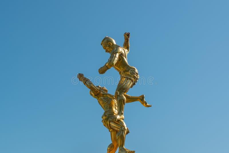 Het Thaise standbeeld van Muay royalty-vrije stock foto's