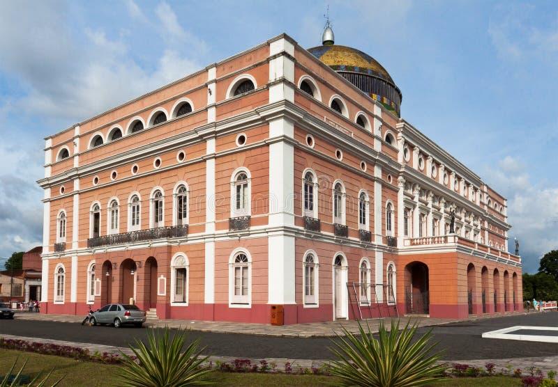 Het Theater Manaus Brazilië van Amazonas stock foto