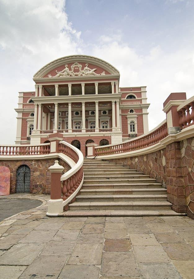 Het Theater van Amazonas in Manaus, Brazilië royalty-vrije stock fotografie
