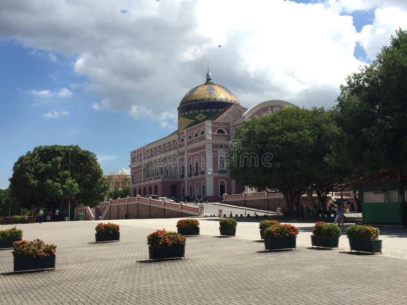 Het Theater van Amazonië in Manaus royalty-vrije stock afbeeldingen