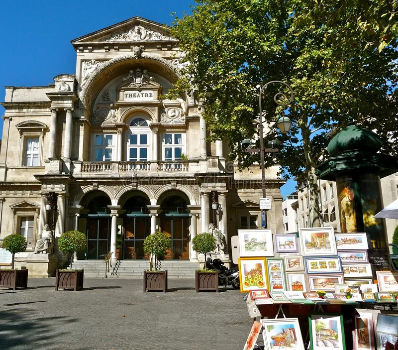 Het theater van Avignon royalty-vrije stock foto's