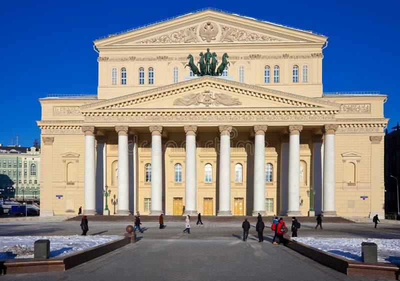 Het Theater van Bolshoi in Moskou, Rusland stock afbeelding
