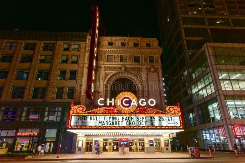 Het Theater van Chicago stock foto
