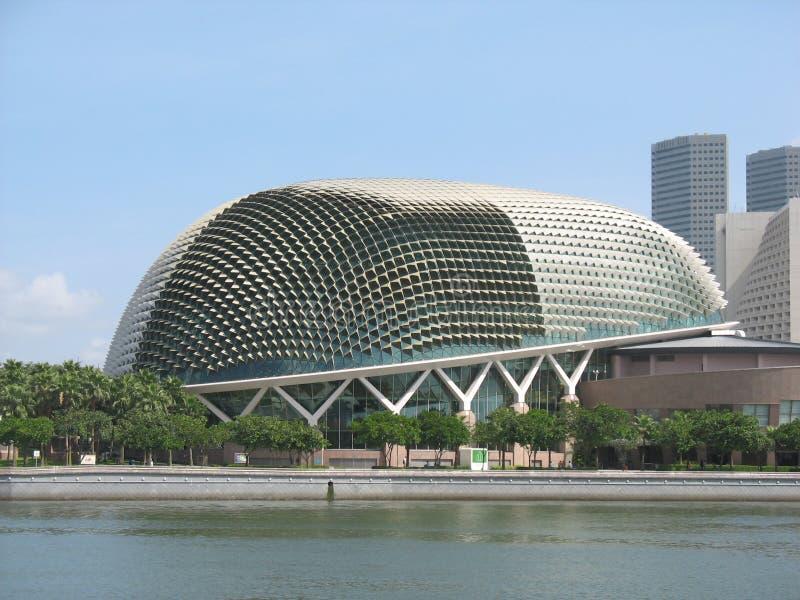 Het Theater van de Baai van de Promenade van Singapore stock foto