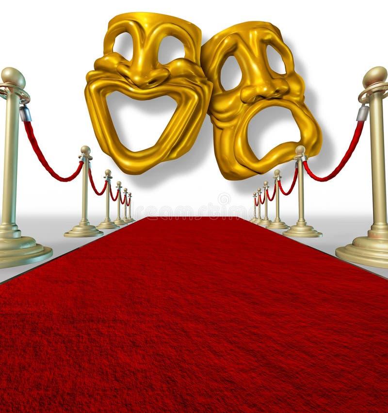 Het theater van de komedie en van de tragedie royalty-vrije illustratie