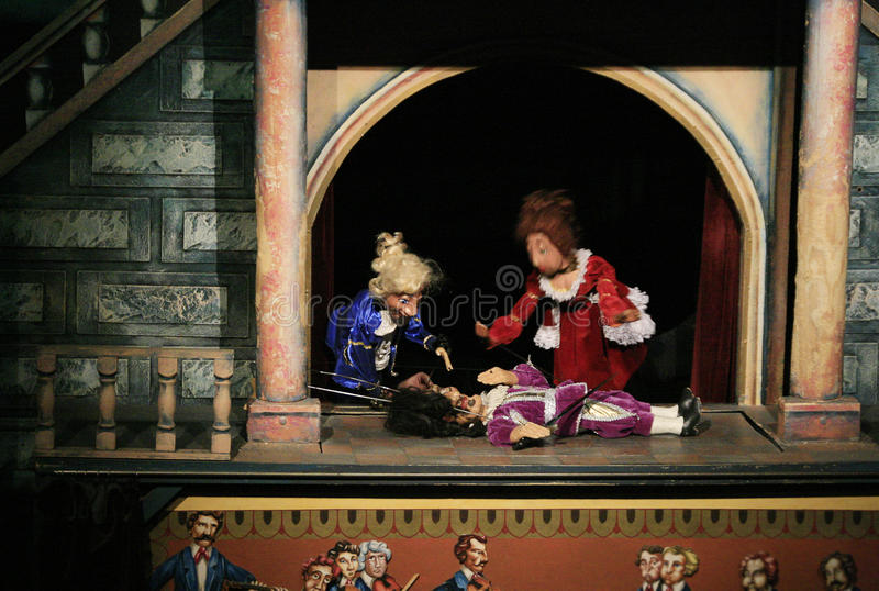 Het theater van de marionet royalty-vrije stock foto's