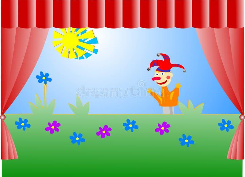 Het theater van de marionet stock illustratie