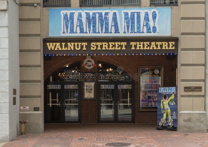 Het Theater van de okkernootstraat, het Oudste Theater van Amerika ` s, Philadelphia Pennsylvania royalty-vrije stock foto's