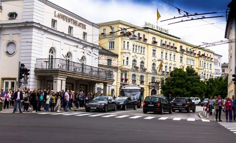 Download Het Theater Van De Staat Van Salzburg Ausria Redactionele Stock Foto - Afbeelding bestaande uit europa, hoog: 114225178