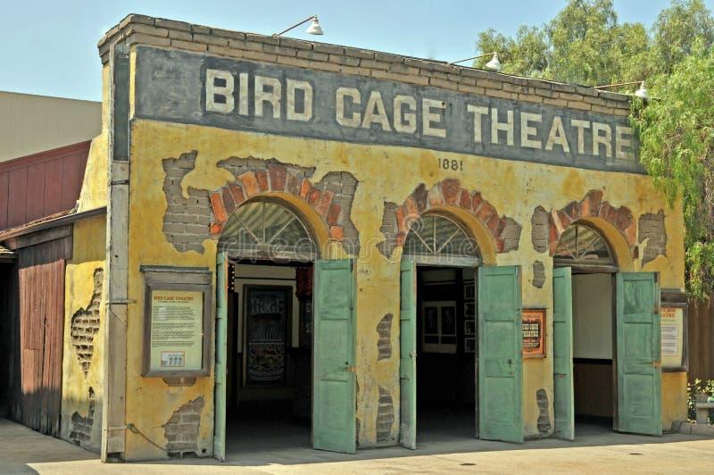 Het theater van de vogelkooi royalty-vrije stock afbeelding