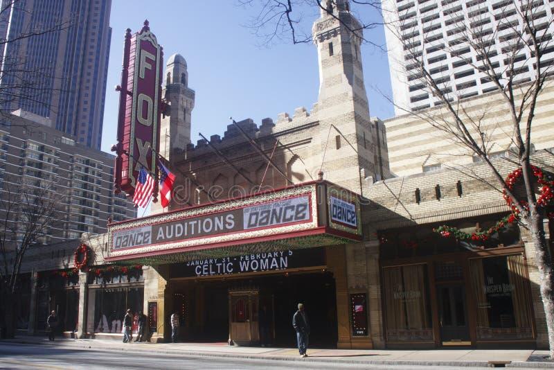 Het Theater van de vos in Atlanta dat audities SYTYCD ontvangt stock afbeelding