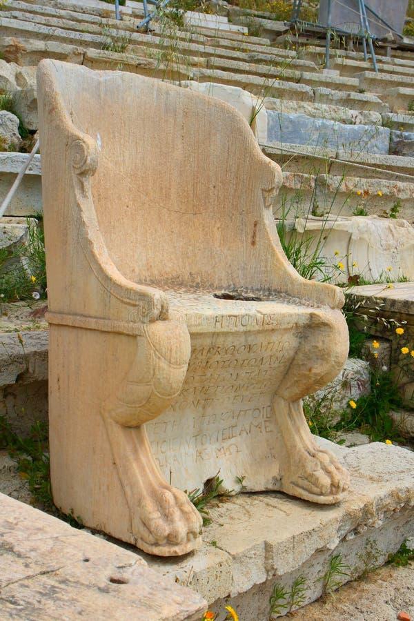 Het theater van Dionysus royalty-vrije stock foto