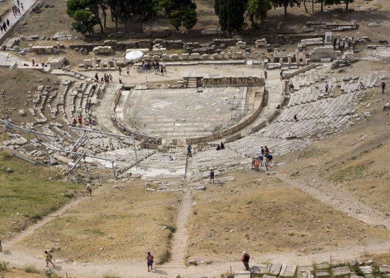 Het theater van Dionysus Eleuthereus stock afbeeldingen