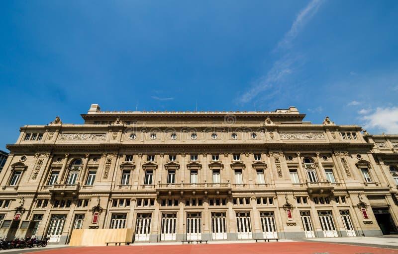 Het theater van dubbelpuntteatro in Buenos aires, Argentinië, op een zonnige dag royalty-vrije stock fotografie