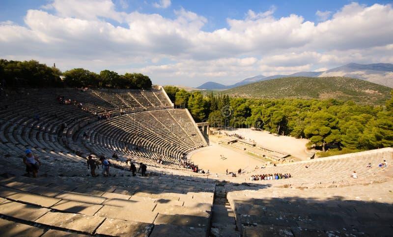 Het Theater van Epidavros, Griekenland stock foto's